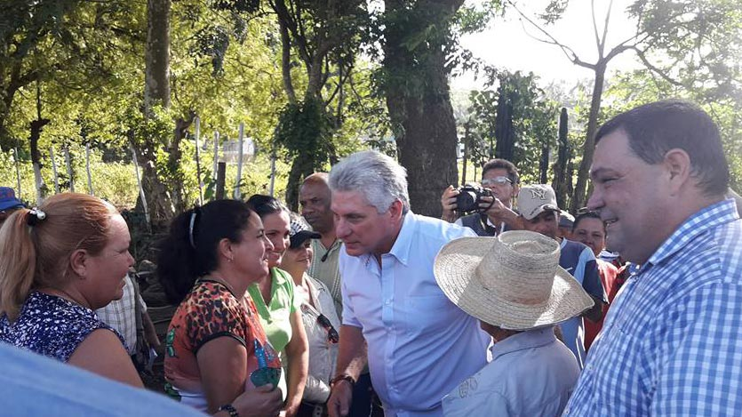 Cuban President Checks Recovery in Ciego de Avila after Rainfalls