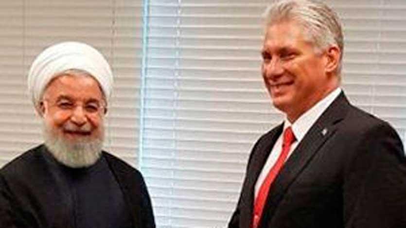 Presidente cubano conversa con Hassan Rouhani en ONU