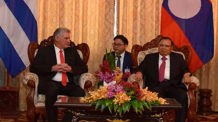 Díaz-Canel culmina en Laos su primera gran gira euroasiática