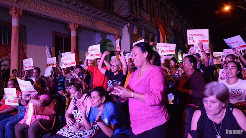Avileños por el sí a la Constitución y el apoyo a Venezuela