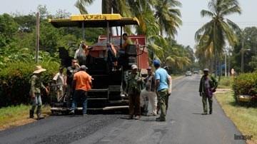 Trabajadores en proceso constructivo
