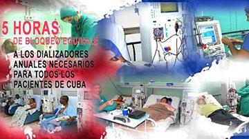 Pacientes cubanos afectados por el bloqueo de EEUU